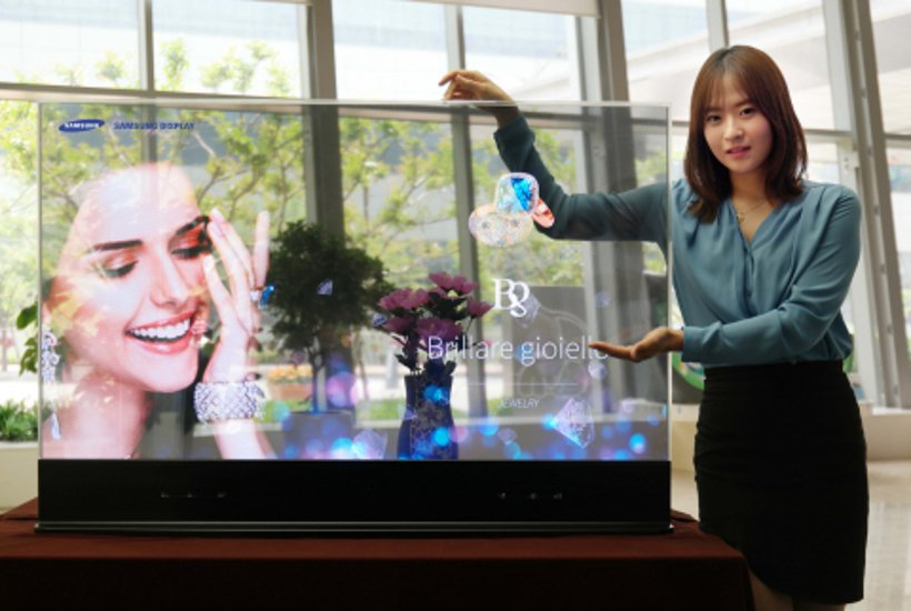 Samsung Display 55 inch Transparent OLED