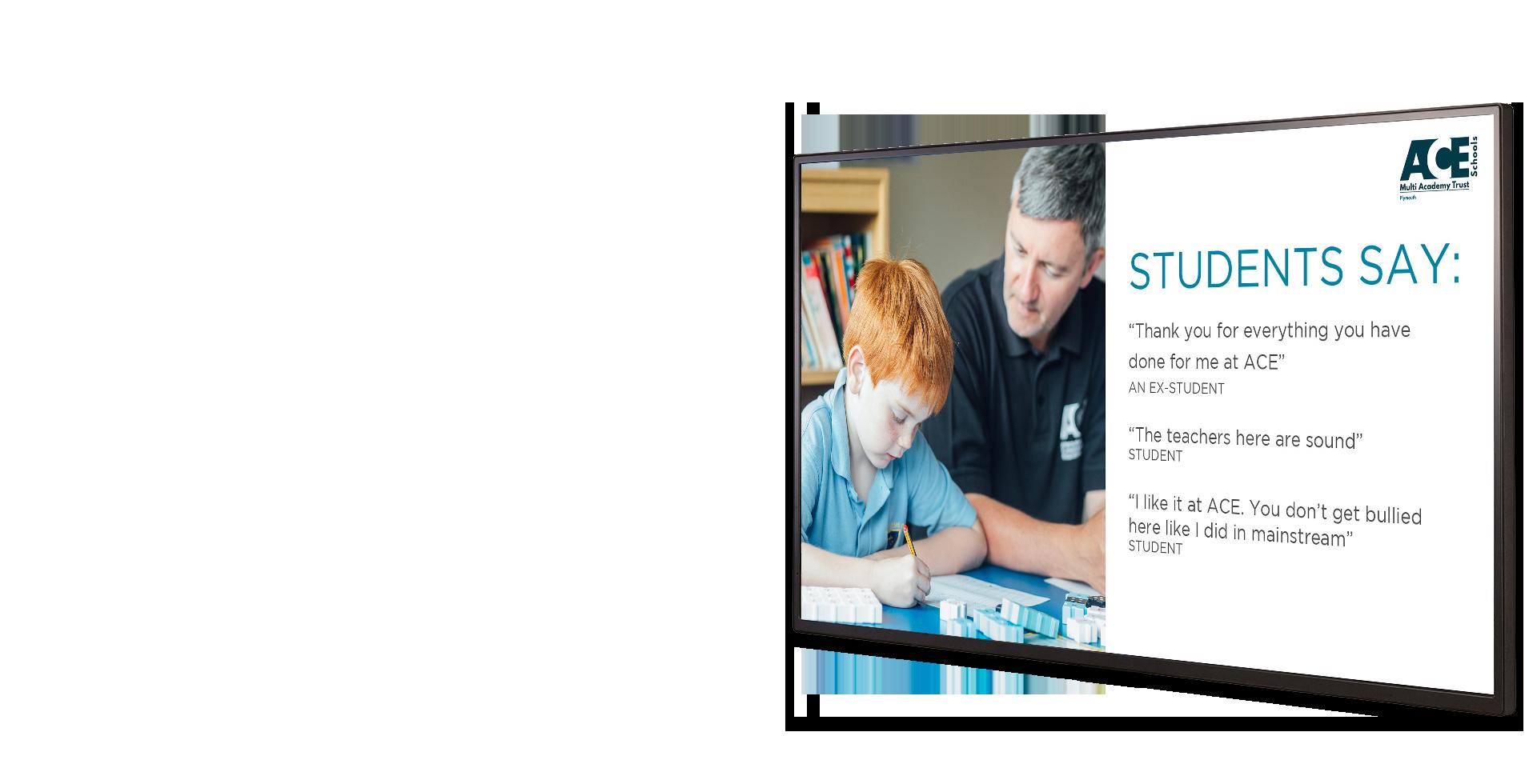 ACE Schools Digital Signage