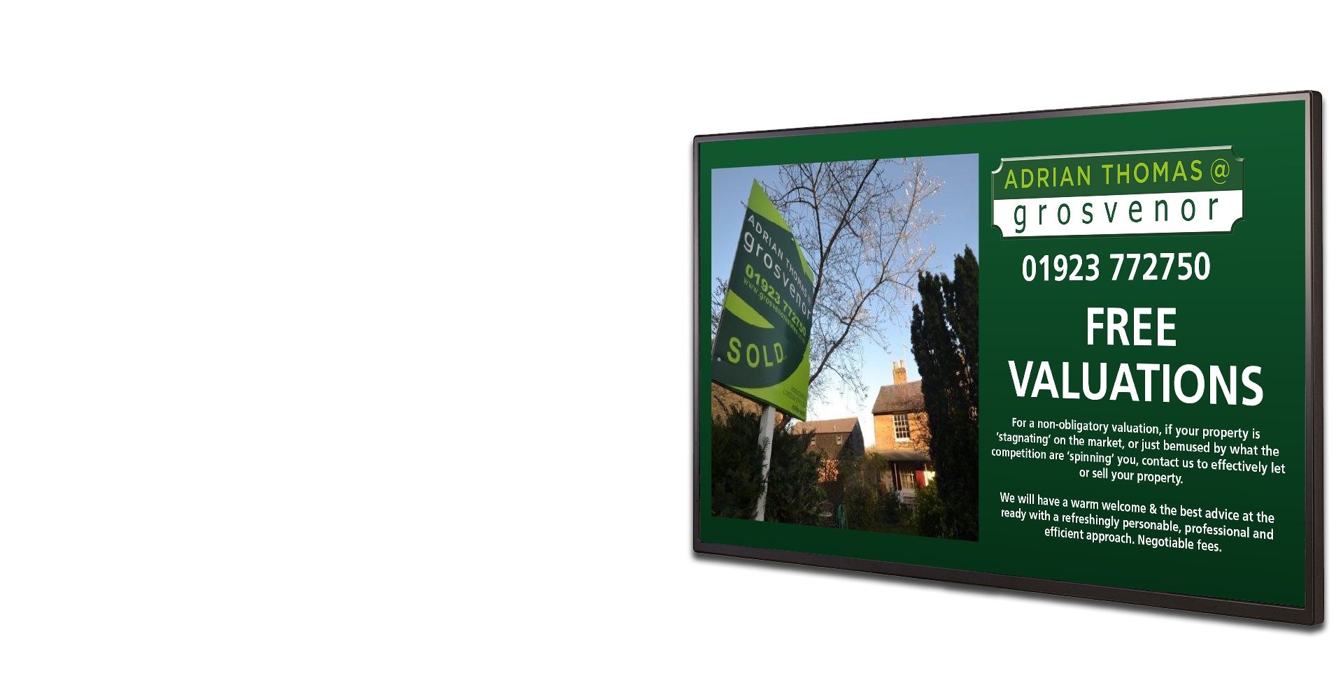 Grosvenor Estate Agents Digital Signage