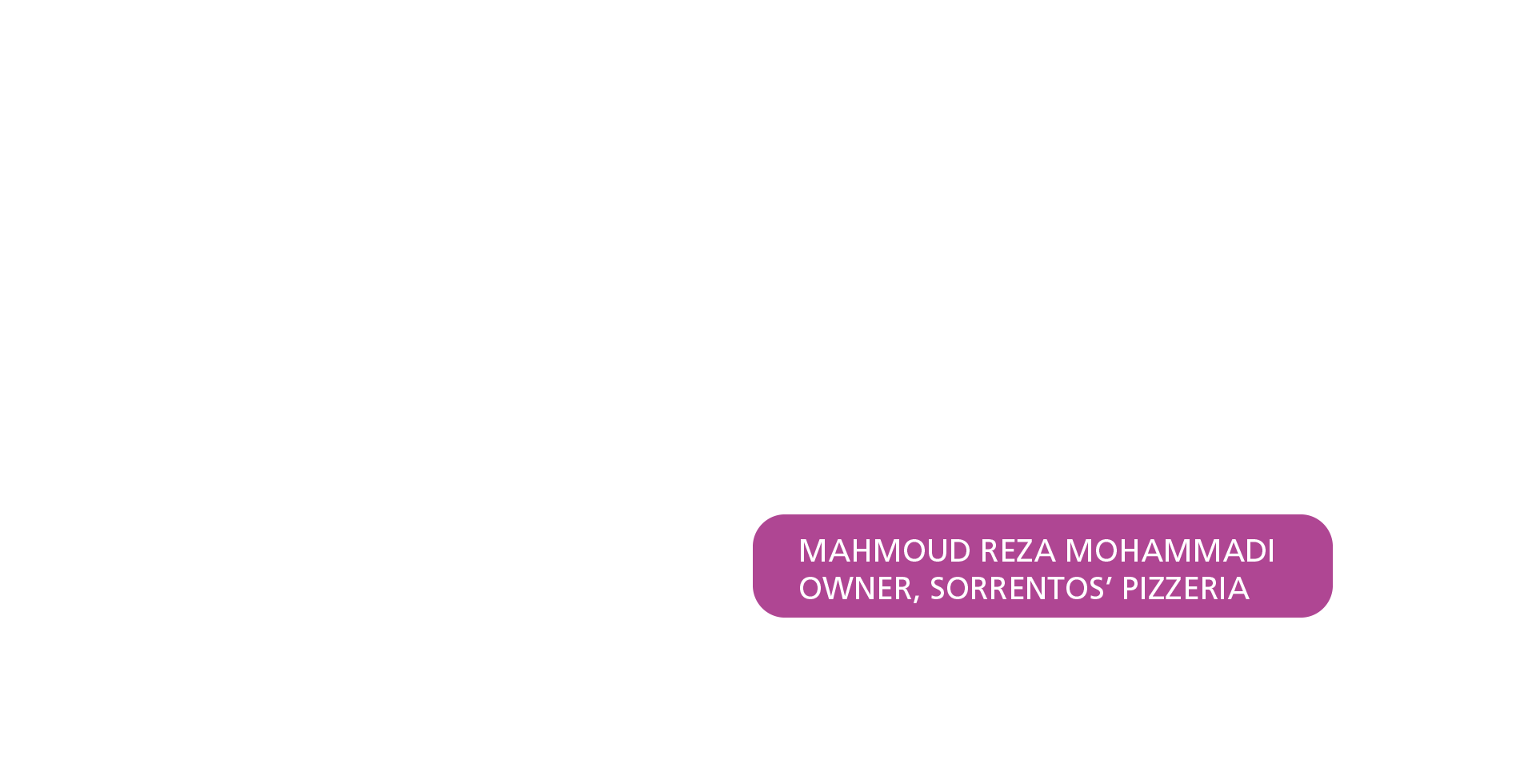 Purple box with text saying