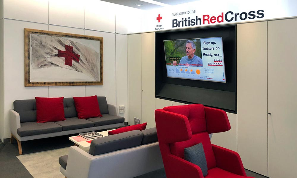 Digital Signage at British Red Cross head office