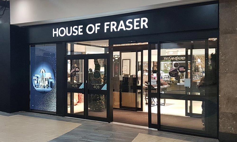 House of Fraser Window Digital Signage