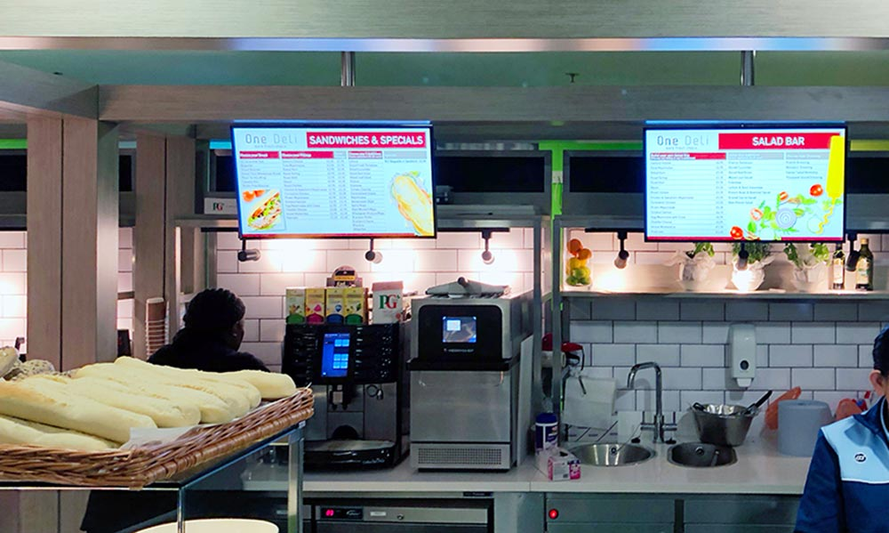 Digital Menu Boards at the Chelsea and Westminster Hospital Restaurant