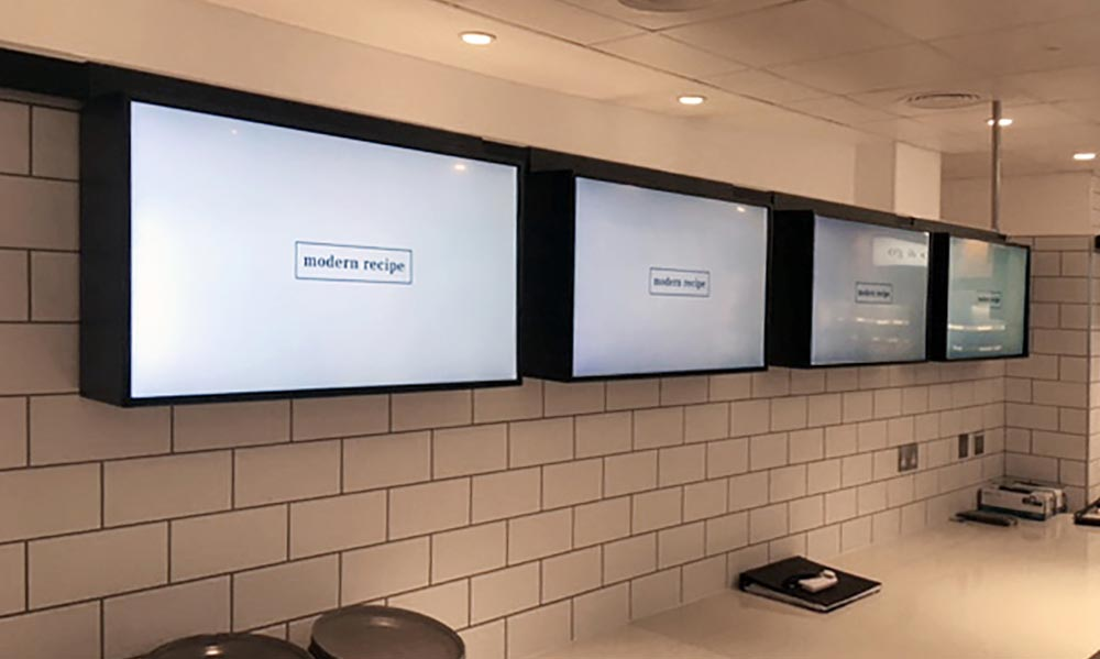 Digital menu boards at Diageo head office restaurant